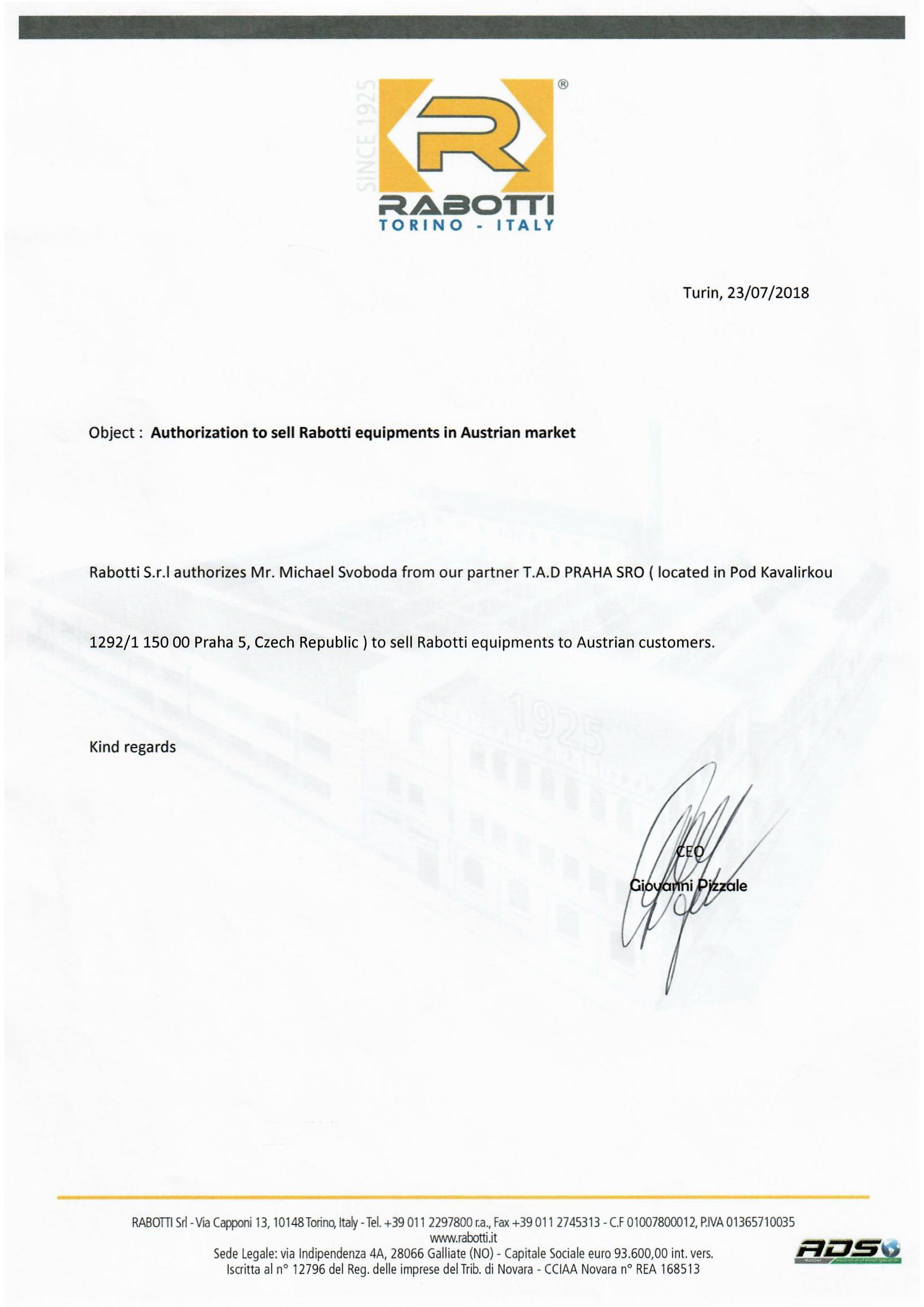 Autorizace pro Rakousko